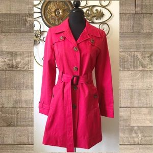 Tommy Hilfiger Raspberry Pink Trench Coat XS